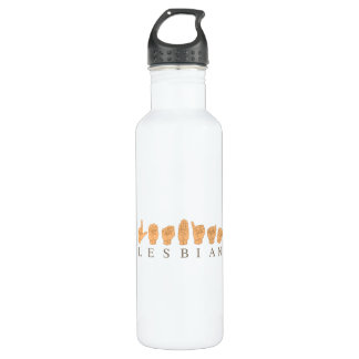 SIGN LANGUAGE FOR LESBIAN 710 ML WATER BOTTLE