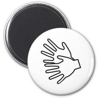 sign language icon 6 cm round magnet