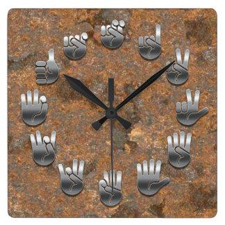 Sign Language -Rusty Wall Clock