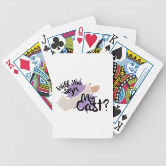 Sign My Cast Bicycle Playing Cards