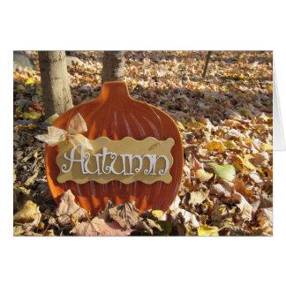 Sign of Autumn Card