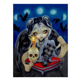 Sign of Our Parting gothic Raven Fairy ART PRINT