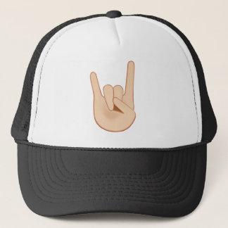 Sign of the Horns Emoji Trucker Hat
