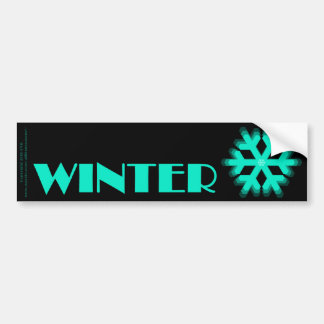 Sign of the Times Winter Bumper Sticker