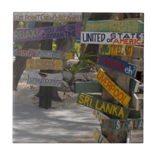Sign Post Rum Point Grand Cayman Ceramic Tile