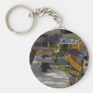 Sign Post Rum Point Grand Cayman Key Ring