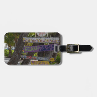 Sign post Rum Point Grand Cayman Luggage Tag