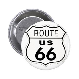 Sign - Route 66 6 Cm Round Badge