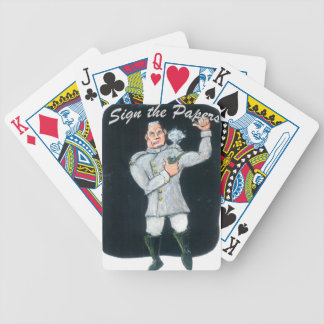 Sign the Papers Bicycle Playing Cards