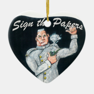 Sign the Papers Ceramic Ornament