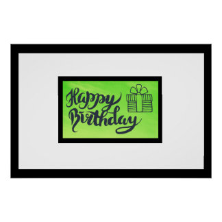 Sign this Birthday Poster,  Autograph Keepsake