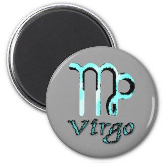 sign.virgo 6 cm round magnet