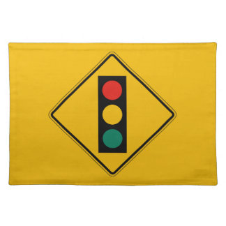 Signal Ahead, Traffic Warning Sign, USA Placemat