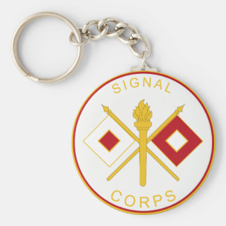 Signal  Corps Branch Plaque Key Ring