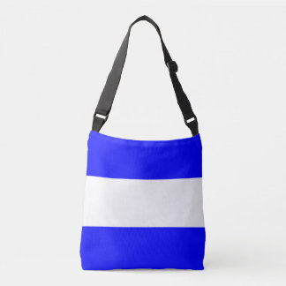 Signal Flag Letter J Juliet Nautical Pattern Crossbody Bag