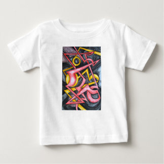 Signal From Mars-Hand Painted Abstract Geometric Baby T-Shirt