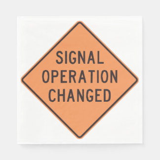 Signal Operation Changed Paper Napkins Paper Napkin