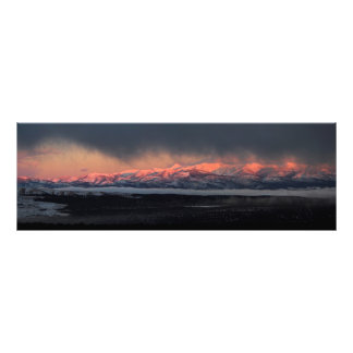 Signal Peak and Mount Baldy Sunset Photo Print