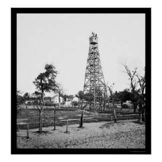 Signal Tower in Jacksonville, FL 1865 Poster