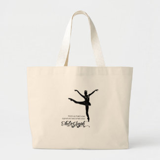 Signature Becomes Your Autograph Large Tote Bag