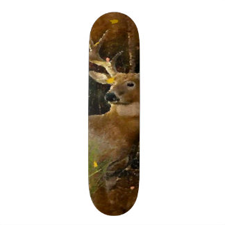 Signature Big Whitetail Buck Hunter Pro Park Board Skate Boards