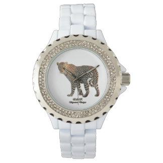 Signature Leopard Custom Rhinestone Enamel Watch