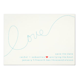 SIGNATURE LOVE SAVE THE DATE CARD