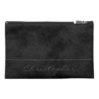 ~ * Signature Mottled Black Contemporary Travel Accessory Bag