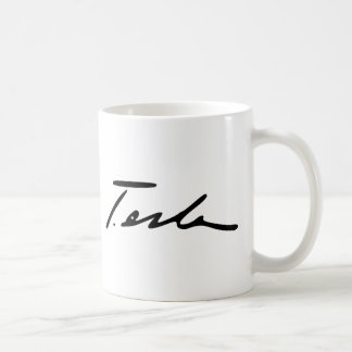 Signature of Electricity Genius Nikola Tesla Coffee Mug