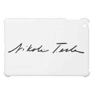 Signature of Electricity Genius Nikola Tesla iPad Mini Cases