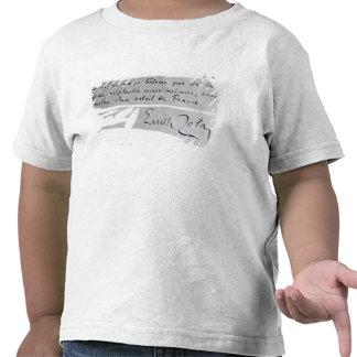 Signature of Emile Zola Tee Shirts