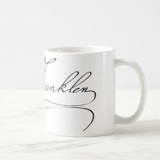 Signature of Founding Father Benjamin Franklin Mugs