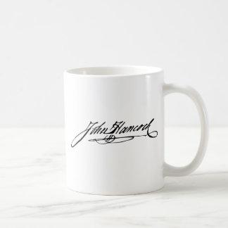 Signature of Founding Father John Hancock Basic White Mug