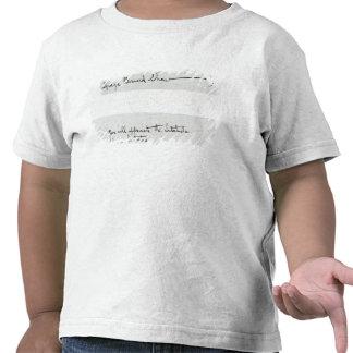 Signature of George Bernard Shaw T-shirt