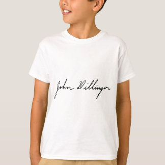 Signature of Notorious Outlaw John Dillinger Tshirts