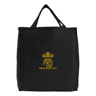 Signature Prohibition Embroidered Tote Bag
