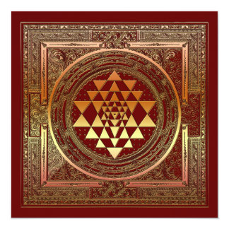 Signature yoga meditation symbol india hindu card 13 cm x 13 cm square invitation card