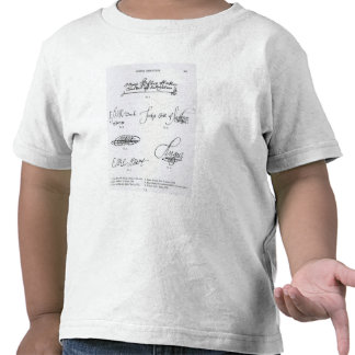 Signatures of 16th and 17th century tee shirts