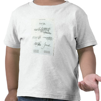 Signatures of Mary Queen of Scots Tees