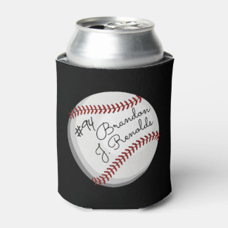 Signed Baseball Customized Name Can Cooler