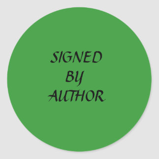SIGNED, BY, AUTHOR CLASSIC ROUND STICKER