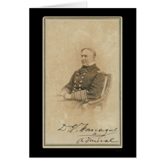 Signed Card of Admiral David Farragut 1860