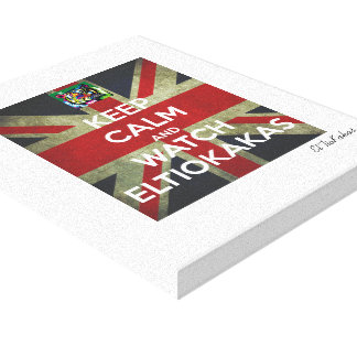 Signed linen cloth - Keep Calm And Watch Canvas Print