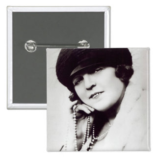 Signed photograph of Marie Lloyd 15 Cm Square Badge