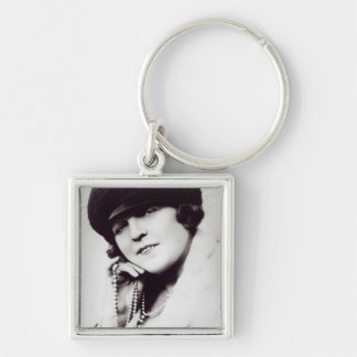 Signed photograph of Marie Lloyd Silver-Colored Square Key Ring