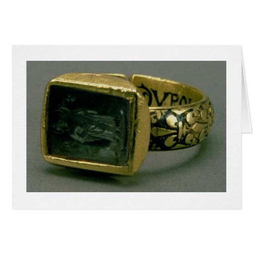 Signet ring of King Louis IX of France (St. Louis) Card