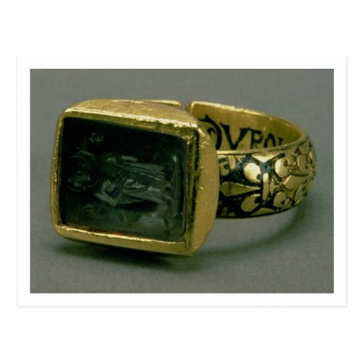 Signet ring of King Louis IX of France (St. Louis) Post Cards