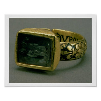 Signet ring of King Louis IX of France St Louis Print