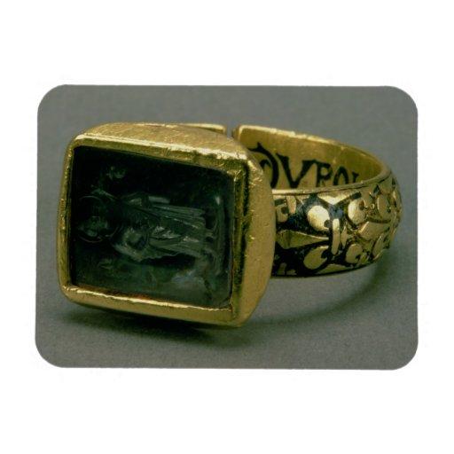 Signet ring of King Louis IX of France (St. Louis) Rectangular Magnets