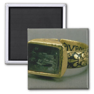 Signet ring of King Louis IX of France (St. Louis) Square Magnet